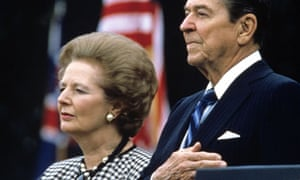 Margaret Thatcher and Ronald Reagan in Washington DC 1988