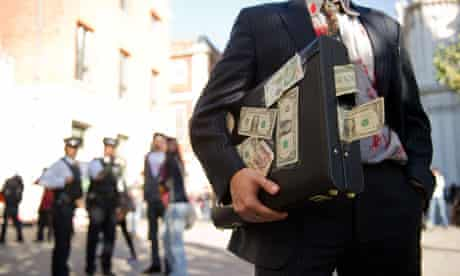 bank protester