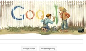 Mark Twain Google Doodle