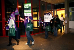public sector strikes: Theatre nurse Eleanor Smith President of Unison