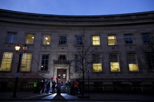 Strike day: Council workers on the early morning picket lines at Bolton Town Hall