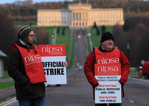 Strike day: A public service protest over pensions at Stormont Parliament