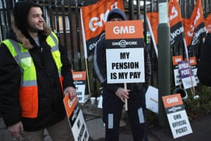 Strike day: Public sector workers take industrial action outside Mill Hill Depot