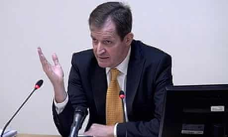 Alastair Campbell giving evidence to the Leveson inquiry
