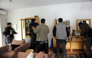 British Embassy, Iran: Protesters searching a building in the grounds of the British embassy