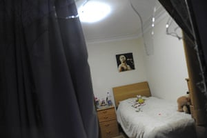 British Embassy, Iran: A bedroom in the British Embassy is seen through a shattered window