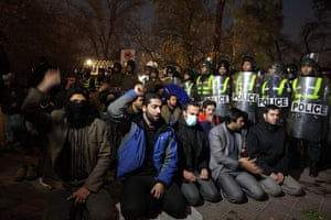 British Embassy, Iran: Protesters in front of the Gholhak residential compound, Tehran