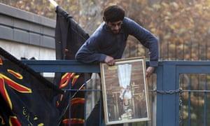 Iranian protesters storm British embassy in Tehran