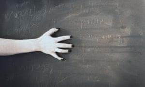 Fingernails scratching a blackboard