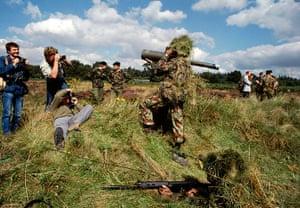 Chris Steel-Perkins: Territorial Army exercise