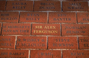Fergie's 25 years: Brick at Old Trafford with Sir Alex Ferguson's name on it