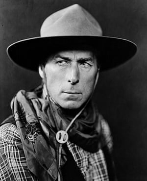 10 best: silent stars: Actor William S. Hart as a Cowboy