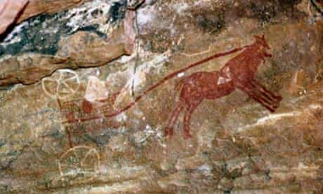 Rock painting believed to show a Garamantes chariot