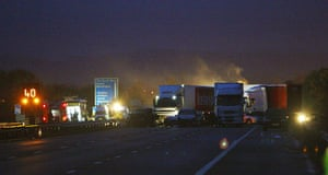 M5 crash: M5 motorway scene