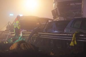 M5 crash: Surveying the wreckage