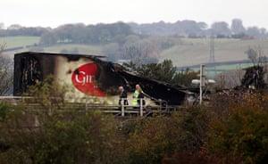 M5 crash: Wreckage