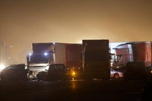 M5 crash: Multiple vehicle pile-up