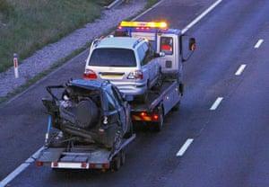 M5 crash day 2: Damaged cars are taken away