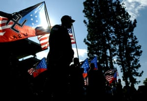 24 hours in pictures: National Socialist Movement rally in Pomona,  USA