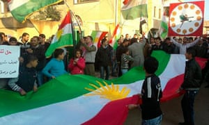 An anti-regime protest in Alsnmin, Syria