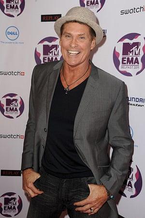 MTV awards: David Hasselhoff
