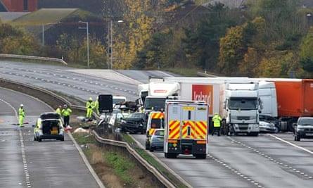 M5 crash aftermath