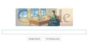 Marie Curie Google doodle
