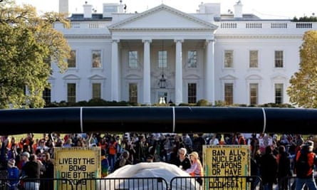 Keystone XL pipeline protest White House