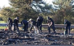 M5 accident: Police search through debris