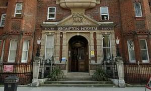 Royal Brompton hospital in Chelsea