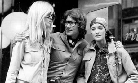 Loulou de la Falaise, right, with Yves Saint Laurent (centre) and Betty Catroux, left