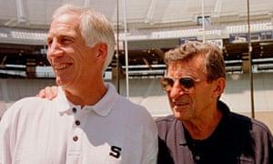 Penn State head football coach Joe Paterno, right, with Jerry Sandusky in 1999