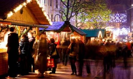 Birmingham city centre at Christmas