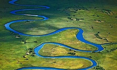 Meandering Okavango River