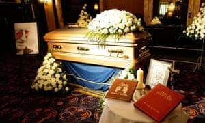 Sir Jimmy Savile's coffin on public display