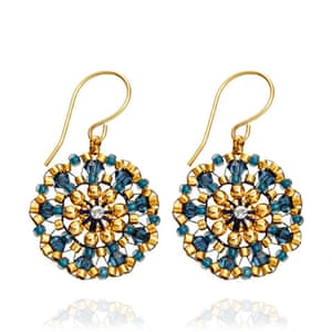 Christmas Gift Guide: Miguel Ases Round Drop Earrings from Astley Clarke