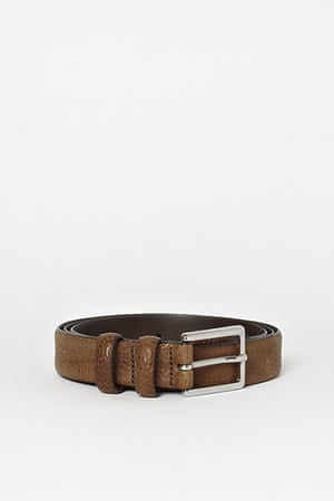 Christmas Gift Guide: Cos mens brown grained leather belt