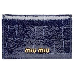 Christmas Gift Guide: Navy Miu Miu wallet