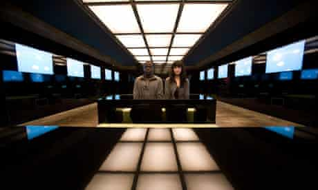 Daniel Kaluuya and Jessica Brown in Fifteen Million Merits.