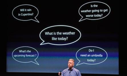 Apple's Phil Schiller introduces Siri