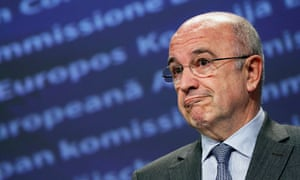 European Competition Commissioner Almunia addresses during a news conference in Brussels