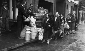 Breadline in New York During Depression