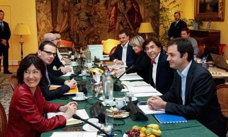 Belgium's chief negotiator in charge of forming a cabinet, Elio Di Rupo