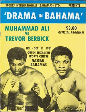 Drama in Bahama: Programme from the Muhammad Ali vs Trevor Berbick fight