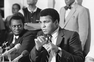 Drama in Bahama: Muhammad Ali at a press conference before his fight with Trevor Berbick