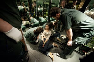 The Booze Bus: a young woman collapsed in a club