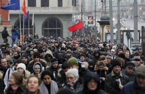 Moscow protests: People gather in the city centre