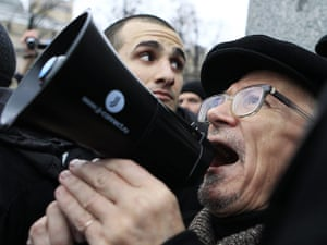 Moscow protests: Opposition leader Eduard Limonov