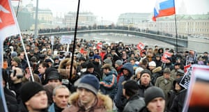 Moscow protests: Protesters in Bolotnaya Square