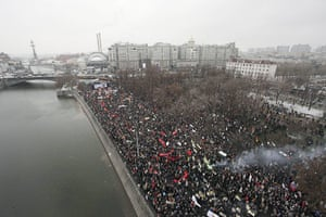 Moscow protests: An aerial view of Bolotnaya square